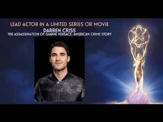 Darren criss nominated for lead actor in a limited series or movie for the assassination of gianni versace american crime story