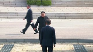North Korean Leader Kim Jong-un Crosses over the southern Boarder to meet South Korean President