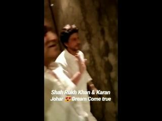 Shah rukh khan and @karanjohar spotted at taj mahal hotel in mumbai!