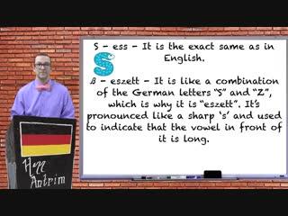 Das alphabet & wie buchstabiert man das? - beginner german with herr antrim lesson #6