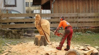 Epic Fastest Beautiful Turbo ChainSaw Carving Woodwork Woodcutter Skills Tree Cutting Down