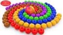 Çocuklar İçin Spiral 3D Renkli Toplar İle Renkleri Öğreniyorum - Bir Sürü Top Var