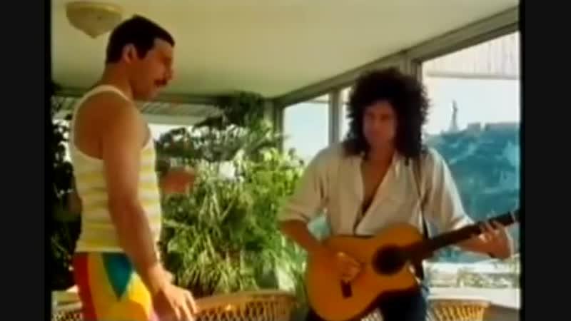 Freddie and Brian - Tavaszi Szel (1986 Budapest rehearsal)