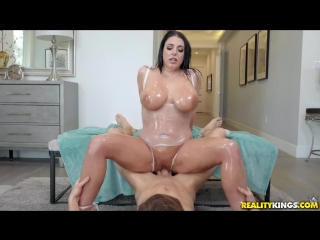 Angela white slick swimsuit [blowjob, sex, cum shot, anal play, gagging, hair pulling, shaved]