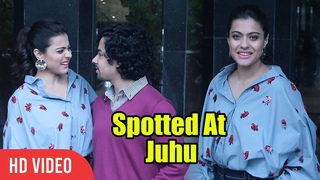 Kajol And Riddhi Sen Spotted At Juhu   Promoting Helicopter Eela