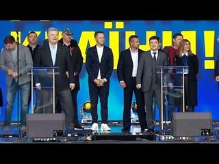 Зеленский и Порошенко: дебаты с переводом на русский язык   LIVE