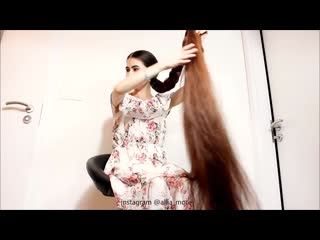 Measure the thickness of my hair ( braid, hair bun, ponytail ) grow long hair. .