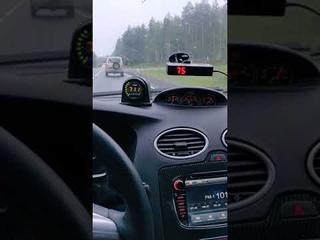 Разгон на 4 передаче 100-200  Ford Focus RS MK2