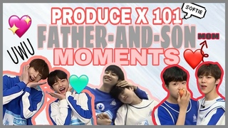 PRODUCE X 101 FATHER AND SON MOMENTS + MOM | Jinhyuk x Jinwoo x Wooseok | Seungwoo x Dongpyo
