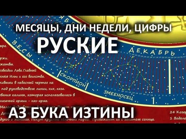 Месяцы дни недели цифры русские Римски боги выдумка АЗ БУКА ИЗТИНЫ РУСЬ 3
