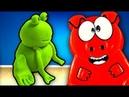 ЖEЛЕЙНАЯ СВИНКА ЛЕРКА КАК СДЕЛАТЬ ПЛЕЙ ДО PLAY DOH В ДОМАШНИХ УСЛОВИЯХ смотреть детское видео