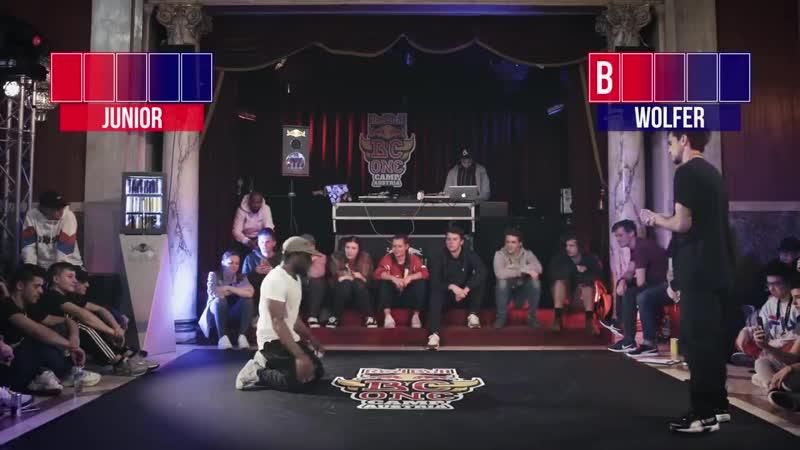B Boy Junior vs B Boy The Wolfer ¦ BREAK THE GAME