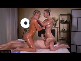 Nataly Cherry, Victoria Pure Orgasms, Lesbians, Massage, Group, Cumshot on ass, Braids, In oil, Shaved, Finger, C