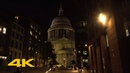 London Walk: St Paul's Cathedral at Night | via Millennium Bridge【4K】