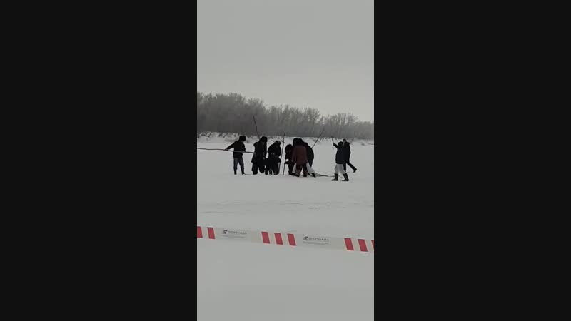 Багренье осетра на Урале
