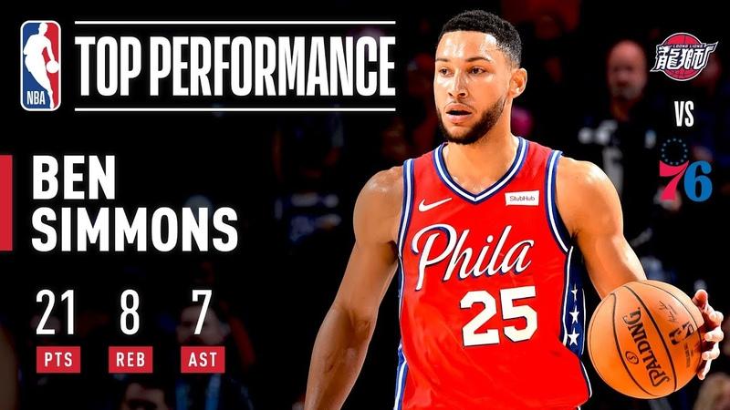 Ben Simmons Shows OFF Range Posts A Near Triple Double! 2019 NBA Preseason