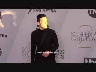 Ricky martin, lady gaga, emma stone, rami malek sobre la alfombra plateada de los sag awards
