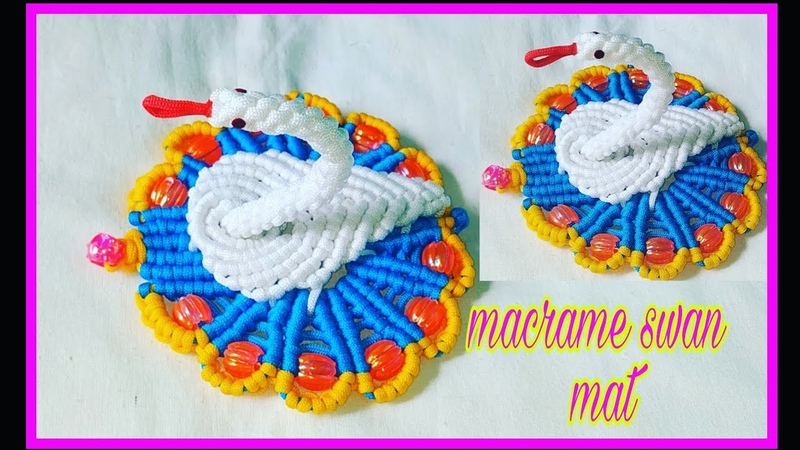 How to make macrame swan mat easy and unique design/macrame table mat