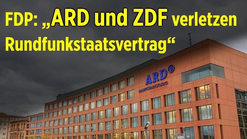 """FDP: """"ARD und ZDF verletzen Rundfunkstaatsvertrag"""", Baerbock und Habeck zu häufig in Polit-Talkshows"""