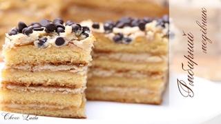 Бисквитный имбирный торт медовик со сметанным кремом и грецкими орехами / Імбирний медівник / Смачний рецепт №44