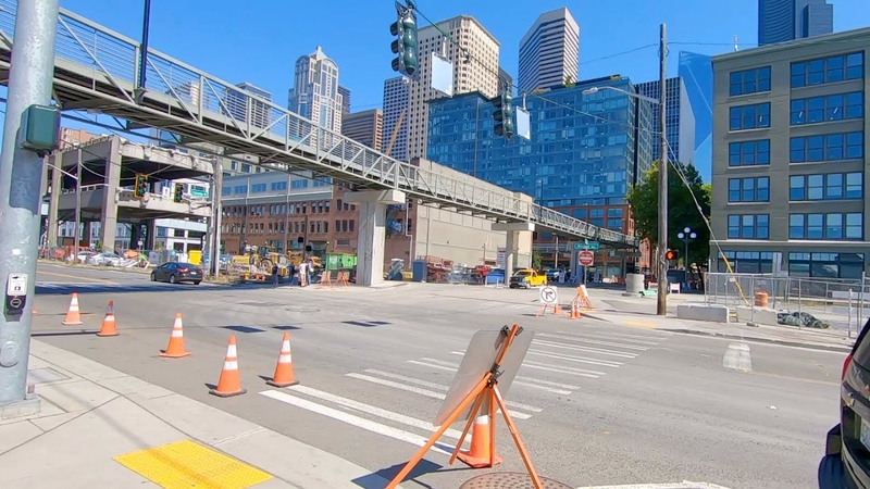 Walking Seattle - Another check on the status of viaduct demolition. 8/27/2019