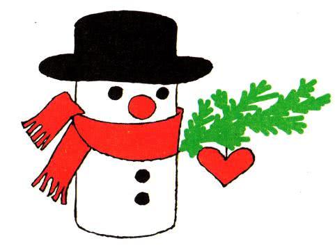 Первые поделки из бумаги (вместе с мамой) - Снеговик Склей цилиндр из белого картона. На одном конце надрежь зубчики и загни их внутрь (рис. 1). Сверху наклей подходящую круглую картонку. Это