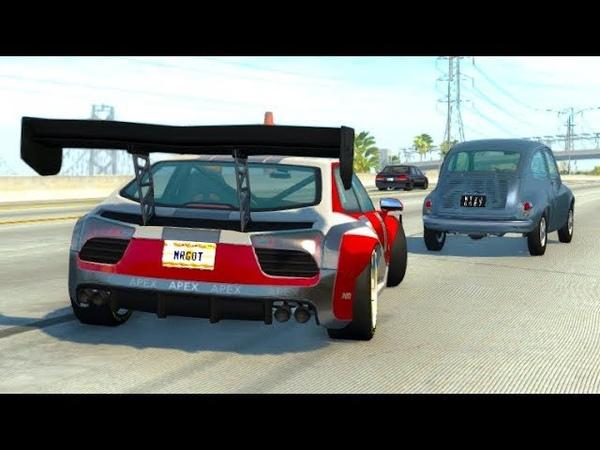 Аварии с трафиком на большой скорости 1 - Нарезка автомобильных аварий BeamNG.drive