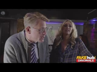 Fake Pub Hotwife PAWG MILF shared with BBC in mature threesome creampie