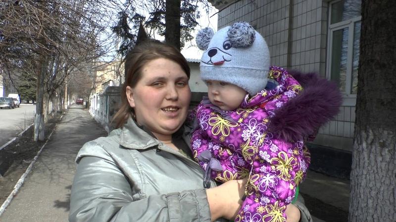 Помощь жителей Санкт Петербурга женщине с ребенком в Дебальцево