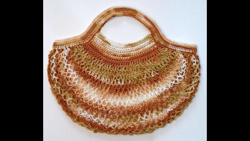 Háčkovaná nákupná taška - sieťovka Batik, Perforated shopping bag