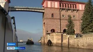 На Рыбинском шлюзе в рамках испытаний готовятся к сбросу воды