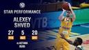 Единая баскетбольная лига матчи 11 19 гг Star Performance Alexey Shved Activates Playoff Mode vs Astana 27 PTS 5 AST I