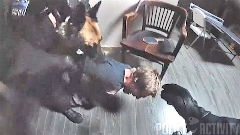 Bodycam Shows Tulsa K9 Officer Takes Bite Out of FOP Lodge Burglary Suspect