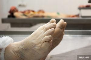 Моргработник Герасимов Закончив вскрытие, Герасимов неожиданно обнаружил небольшой порез на правой перчатке. Видимо, когда его толкнул санитар, он скальпелем поранил себе руку. Однако, не предав