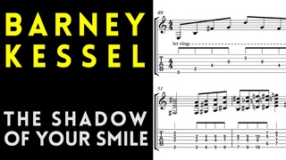 Barney Kessel Solo Transcription - The Shadow Of Your Smile