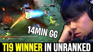 when You meets TI9 Winner in Unranked - ANA God No Mercy  Dota 2