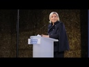 Réunion publique à Bruz 35 discours de Marine Le Pen