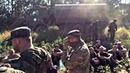 Грузовики ВС РФ уезжают после передачи боевикам солдат ВСУ захваченных под Иловайском