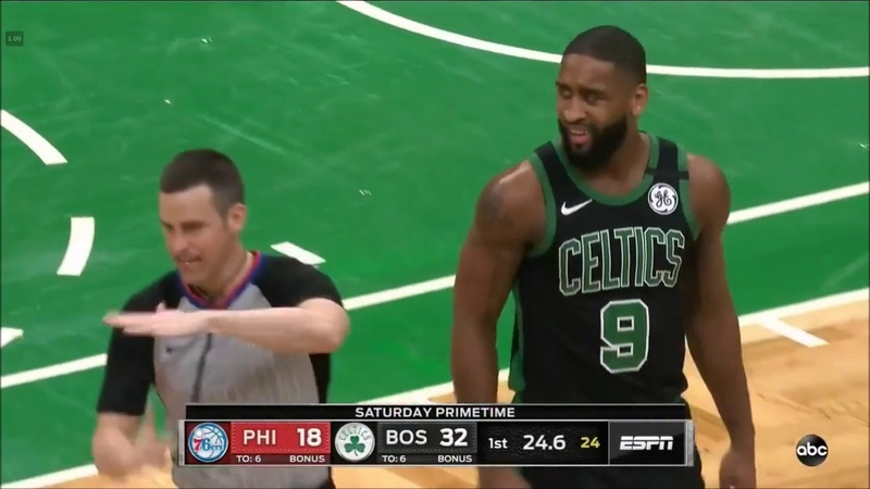 Brad Wanamaker slows down on purpose to dunk on Embiid and gets the technical afterwards 1 2 20