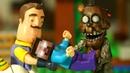 ФНАФ vs ПРИВЕТ СОСЕД vs ХИРОБРИН - Лего НУБик Майнкрафт Мультики и Анимация для Детей