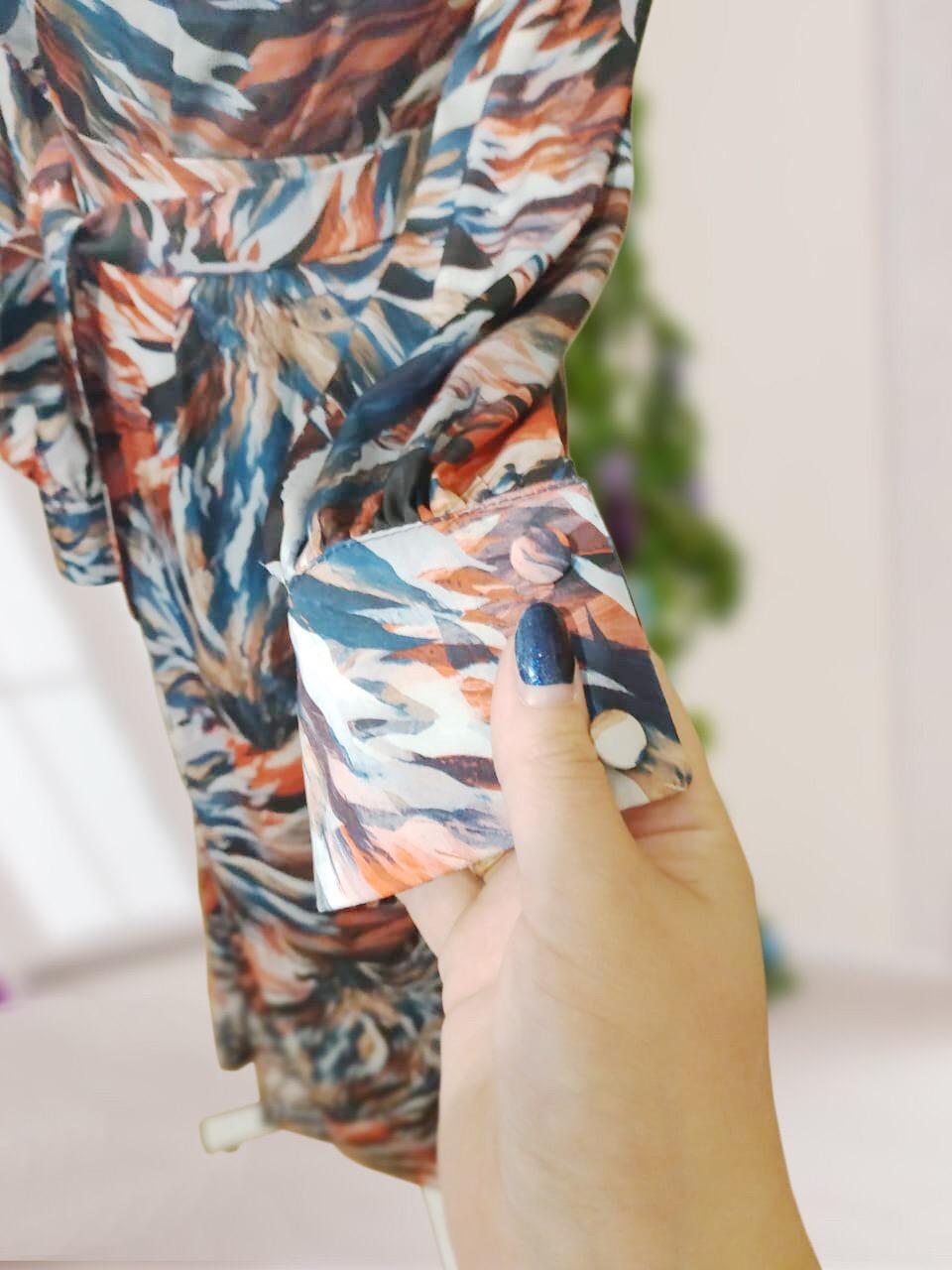 Платье из принтованного шелка