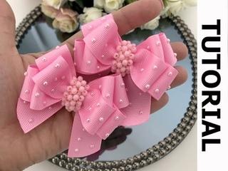 Lao cruzado duplo PARA INICIANTES -  DIY hair ribbon bow