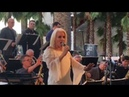 Vangie Gunn singing with Gordon Goodwin at LACMA