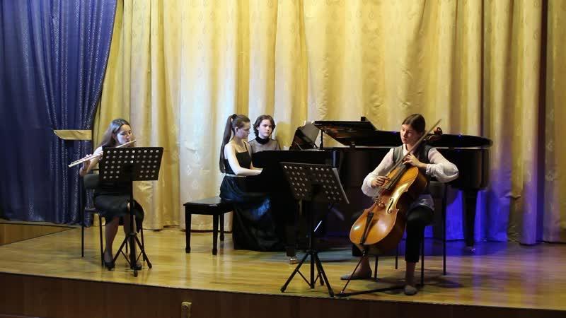 К. Вебер. Трио для флейты, виолончели и ф-но соль минор, II-III ч.ч