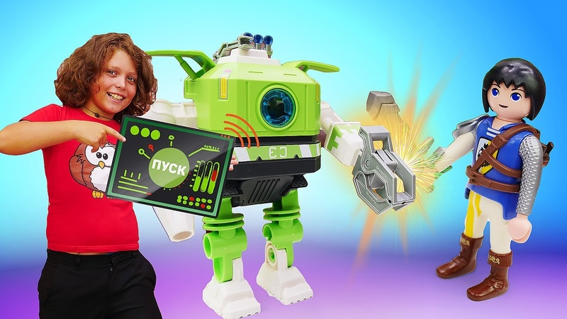 Крутые видео про игры Супер четверка Playmobil отправляется в плавание Веселые истории мальчикам