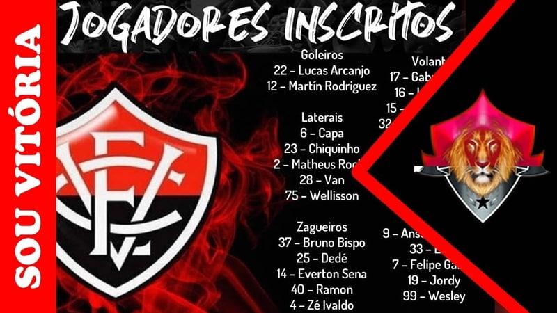 Vitória X Sport: tudo pronto para o jogo Leão relaciona 23 jogadores