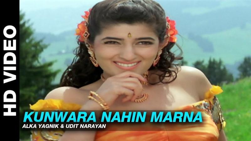 Kunwara Nahin Marna Jaan Alka Yagnik Udit Narayan Ajay Devgn Amrish Puri Twinkle Khanna
