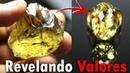 Lapidar é revelar valores anel com pedra Greengold natural