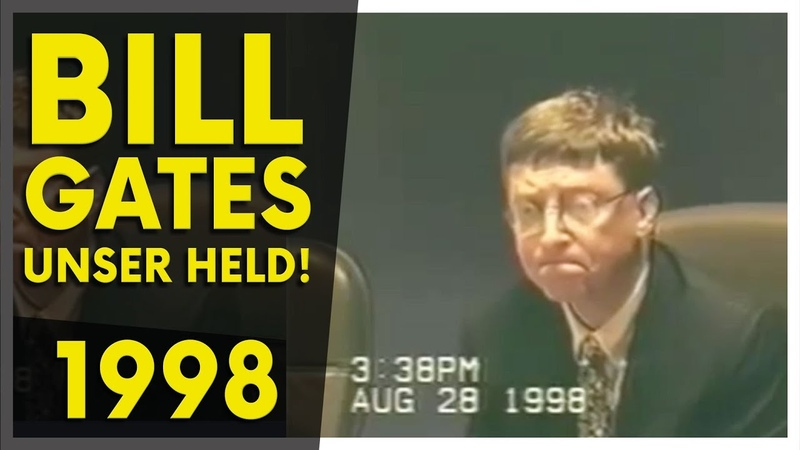 Bill Gates Ein bekannter PSYCHOPATH Aufnahmen von 1998