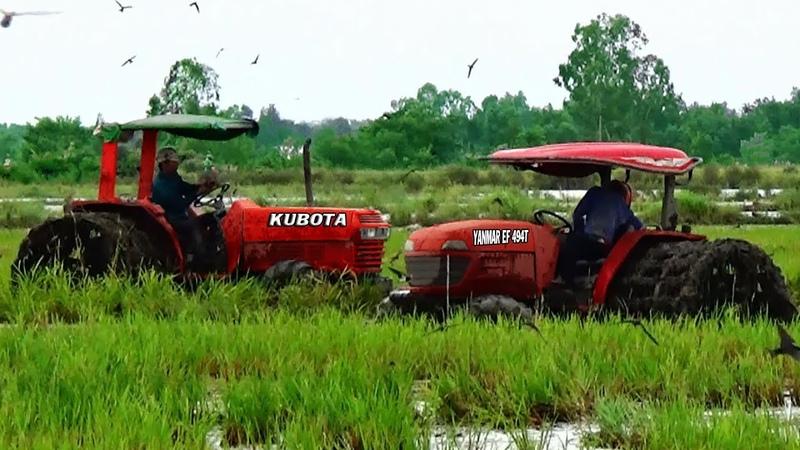 Nhìn Hai Chiếc Máy Cày Đang Trục Đất Mà Phát Sốt - PhongKG